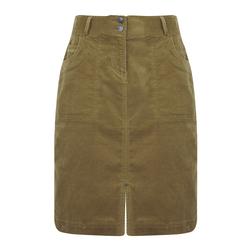 Вельветовая юбка с разрезом  MS 779 Butternut