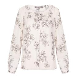 Белая блуза с цветочным принтом BL 437