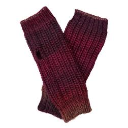 Стильные рукавички темно-красного цвета SH 318