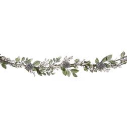 Гирлянда с шишками серебристого цвета WINTER LIT GARLAND L73 (Silver)
