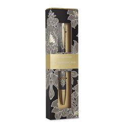 Шариковая ручка в подарочной упаковке с цветочным рисунком DAMASK BOXED PEN 14*1 (Charcoal)