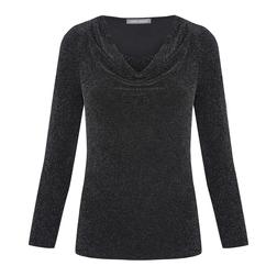 Блуза черного цвета с металлизированным волокном BL 390