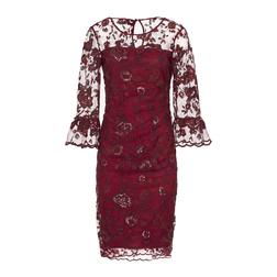 Шикарное красное платье MD 086
