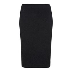 Жаккардовая юбка-карандаш черного цвета MS 808