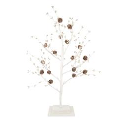 Новогодний декор в форме дерева с шишками PUSSY WILLOW LIT TREE 64*36 (White)