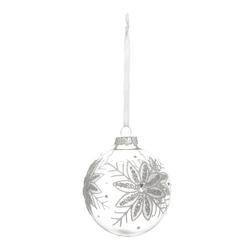 Елочная игрушка в форме шара с рисунком снежинки LACE SNOWFLAKE BAUBLE Ø9 (Clear)