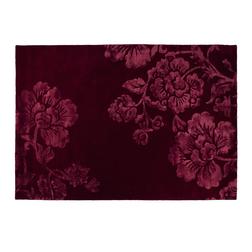 Большой ковер с объемным рисунком бордового цвета CLAVERTON 170*240 (Cranberry)
