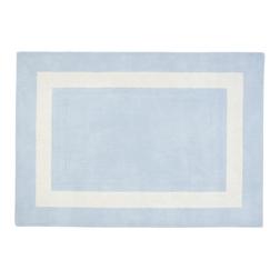 Небольшой шерстяной ковер светло-голубого цвета LEWES 90*150 (Seaspray)