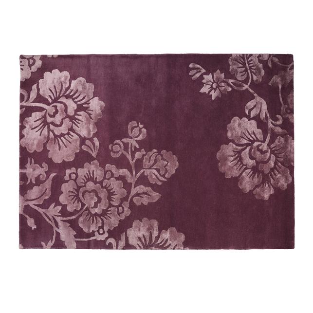 Большой ковер с объемным рисунком фиолетового цвета CLAVERTON 170*240 (Grape)