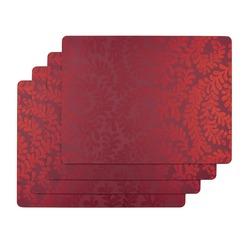 Набор прямоугольных подставок под посуду BERKELEY SCROLL SET OF 4 PLACEMATS 30*23 (Red)