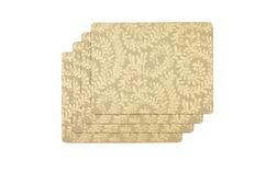 Набор прямоугольных подставок под посуду золотистого цвета BERKELEY SCROLL SET OF 4 PLACEMATS 30*23