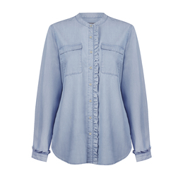 Блуза серо-голубого цвета BL 475