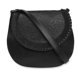 Кожаная темно-серая сумка через плечо BG 217 Grey