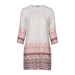 Красивое платье-туника с комбинированым принтом MD 485
