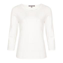 Белая футболка с перфорацией на рукавах TS 071