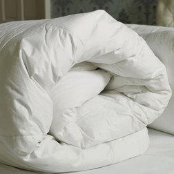Толстое одинарное одеяло из из 2-х половинок наполнение утиное перо DUVET 13.5 TOG SG 135*200 DUCK D