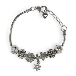 Очень стильный браслет серебряного цвета JW 424