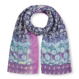 Элегантный шарф с нежным принтом SH 606