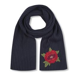 Стильный шарф с ярким цветком SH 616