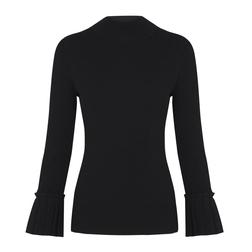 Женственный джемпер черного цвета JP 798