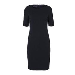 Элегантное платье темно-синего цвета MD 076