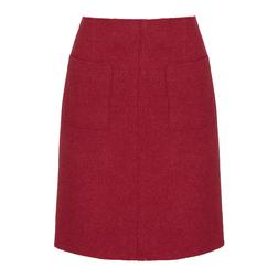Яркая юбка красного цвета MS 791