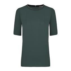 Стильная футболка цвета ели TS 128