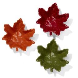 Набор ваз в форме кленовых листьев AUTUMN SET OF 3 DIPPING BOWLS 16*15*4 (Multi)