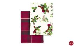 Набор кухонных полотенец с ярким рисунком ROBIN SET OF 2 TEA TOWELS 50*70 (Red)