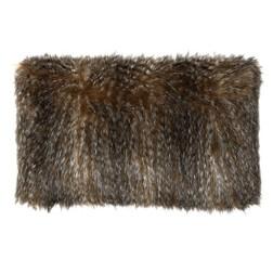 Декоративная подушка имитирующая шкуру животного GLENCOE FUR 30*50 (Truffle)