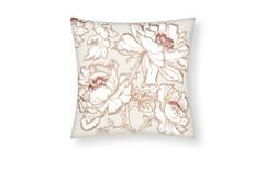 Декоративная подушка с красивой вышивкой крупных цветов TAMARA EMB 45*45 (Copper)