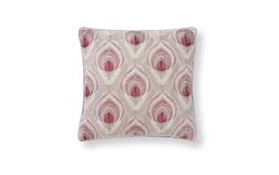 Декоративная подушка с вышивкой перьев павлина RUSKIN 40*40 (Marble)