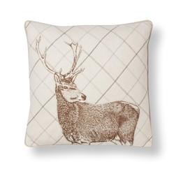 Декоративная подушка с рисунком оленя STAG CHECK 45*45 (Copper)