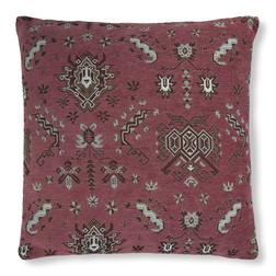 Большая жаккардовая подушка бордового цвета KILIM JAQ 50*50 (Cranberry)