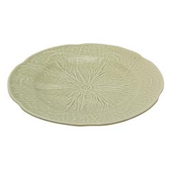 Керамическое блюдо с рисунком листьев капусты CABBAGE LEAF PLATTER Ø32 (Green)