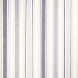 Гардинная ткань из хлопка и льна в полоску светло-фиолетового цвета AWNING STRIPE (Pale Iris)