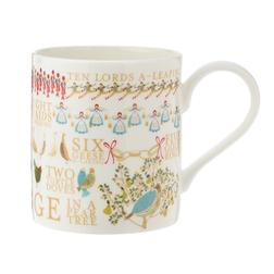 Фарфоровая чашка с рождественским рисунком TWELVE DAYS OF CHRISTMAS 8,5*9,5 (Multi)