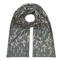 Женственный шарф серого цвета SH 633