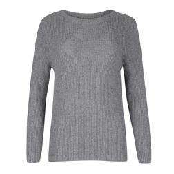 Теплый свитер серого цвета JP 856
