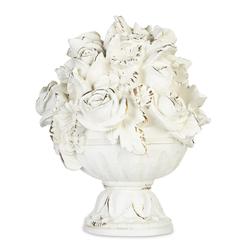 Домашний декор в форме букета цветов DECORATIVE BOUQUET IN URN OBJET 20*20*26 (White)