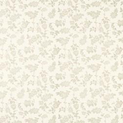 Бумажные обои светло-бежевого цвета в силуэты гроздей сирени LILAC (Dark Linen)