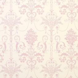 Красивые бумажные обои с крупным рисунком розового цвета JOSETTE (Carnation)
