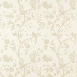 Бумажные обои с силуэтом растительности и птиц бежевого цвета ORIENTAL GARDEN (Gold)