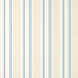 Бумажные обои в вертикальную полоску голубого цвета EATON STRIPE (Seaspray)