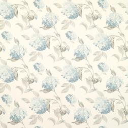 Бумажные обои в голубые цветы гортензии HYDRANGEA (Duck Egg)
