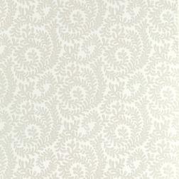 Бумажные обои с растительным рисунком на белом фоне BERKELEY SCROLL (White)
