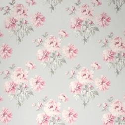 Бумажные обои в розовые цветы BEATRICE (Cyclamen)