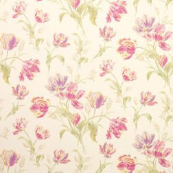 Бумажные обои в красивые цветы тюльпана GOSFORD MEADOW (Cyclamen)