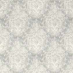 Роскошные обои с крупным рисунком серого цвета MADDOX (Silver)