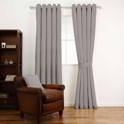 Ткань для штор серебристо-серого цвета AUSTEN (Steel)